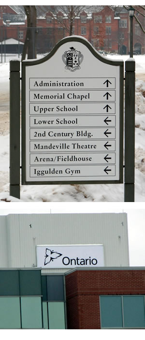 Niagara Outdoor Sign Manufacture Mcgee Marking Devices